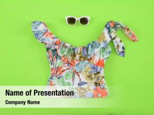 Clothes, summer floral sunglasses  green