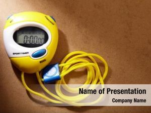 Stopwatch yellow plastic