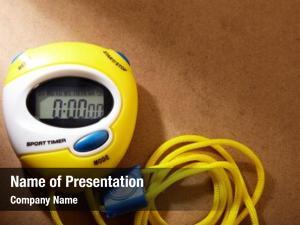 Performance yellow plastic stopwatch