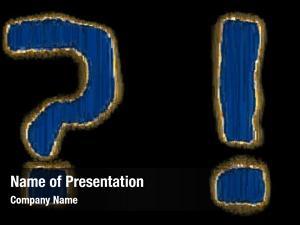 Question set symbols mark exclamation
