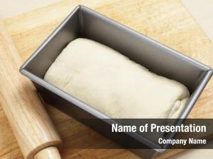 Dough rolled bread english split tin