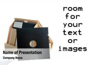 Case floppy disc white room