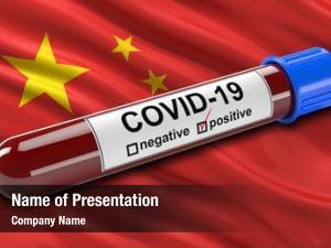 Waving flag china positive covid 19