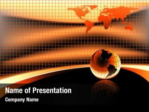 Earth warm orange globe