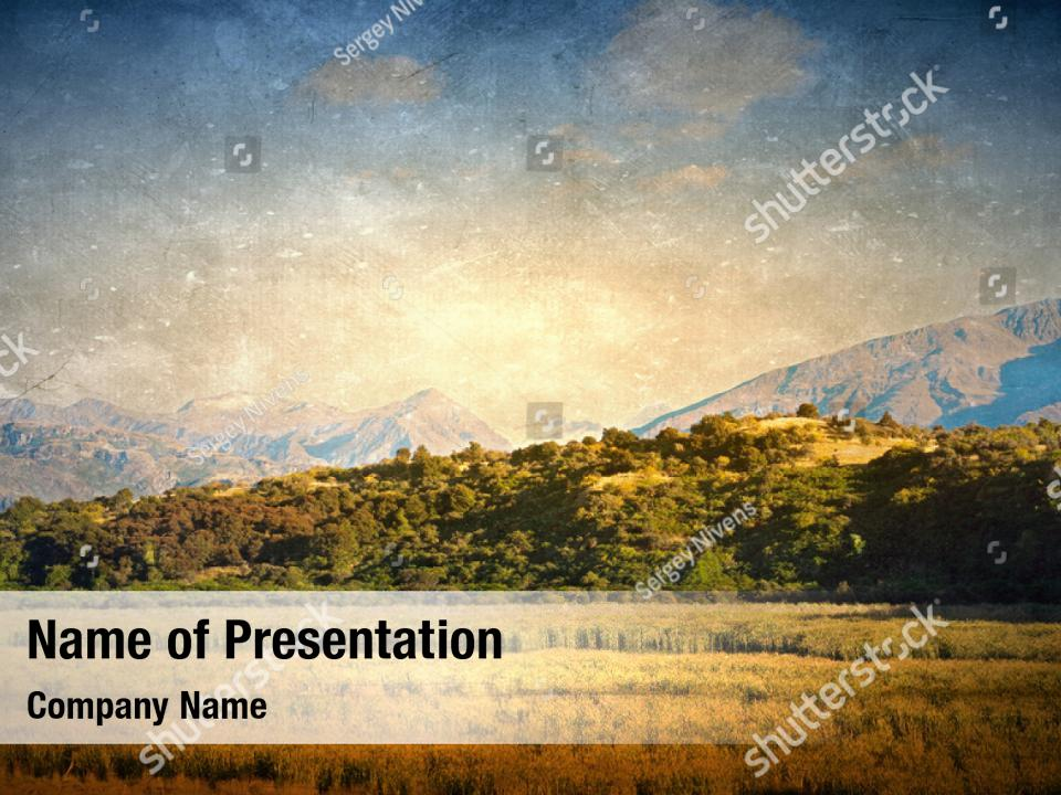 Vintage Style Of Gold Powerpoint Template Vintage Style Of