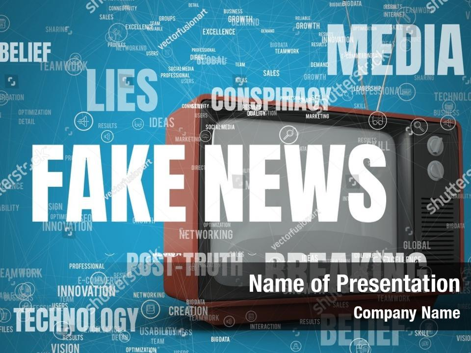 Fake News And Retro Powerpoint Template Fake News And Retro