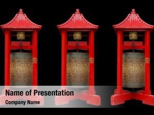 Chinese prayer wheel temple