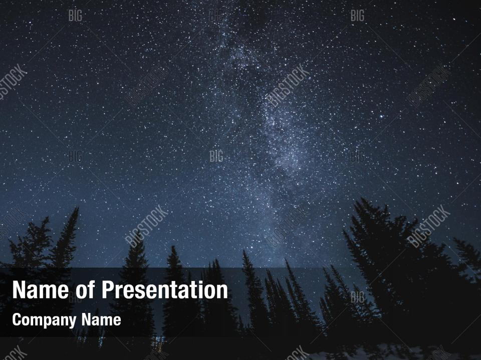 Stars And Milky Powerpoint Template Powerpoint Template