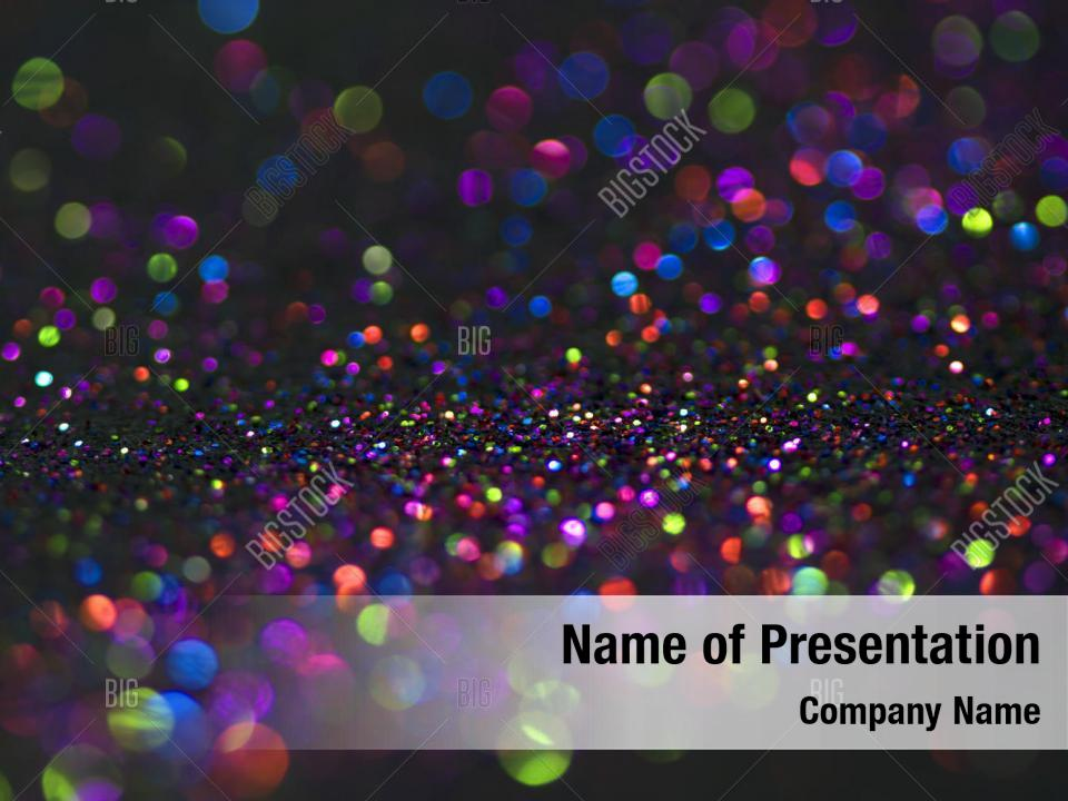 Bokeh glitter powerpoint background PowerPoint Template - Bokeh