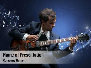 Composer lonely musical guitar sparkling