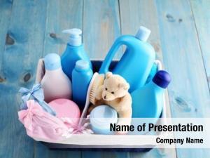 Supplies basket baby blue baby