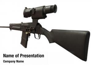 Gun black machine under white