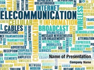 Global telecommunications net industry art
