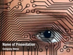 Overlaid eye woman circuit board