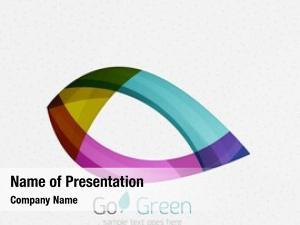 Geometric green concept, design eco