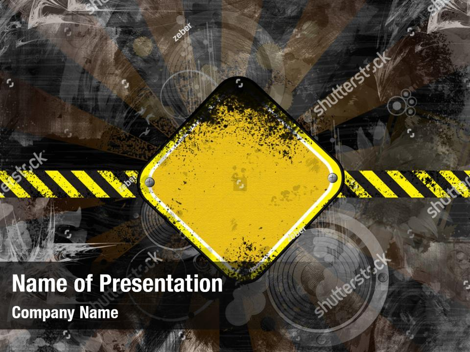 Road Construction Repair Powerpoint Template Road