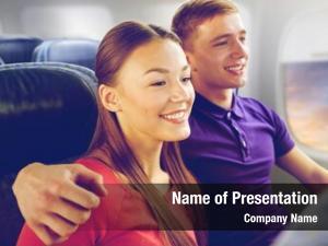Air transport, tourism flights concept