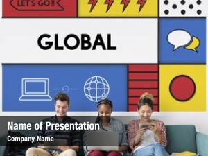 Connection global communication web concept