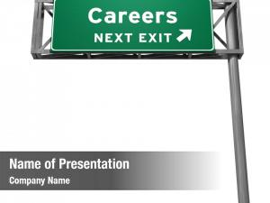 Exit careers freeway sign