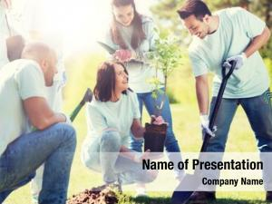 People volunteering, charity, ecology concept