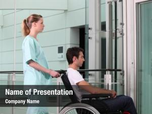 Medical young cripple assistant