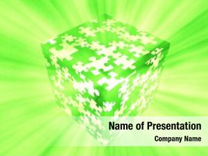 Green puzzle box