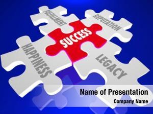 Principles success elements puzzle pieces