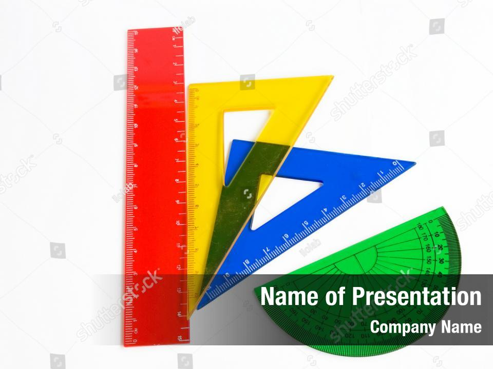 Engineering ruler divider pencil PowerPoint Template