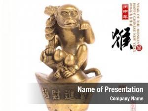 Monkey,gold 2016 year monkey,chinese calligraphy