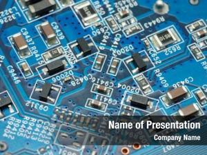 Circuit close blue board microchips