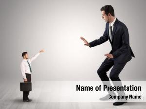 Shirt small businessman pointing afraid