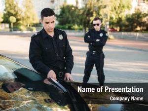 Writes policemen uniform car fine