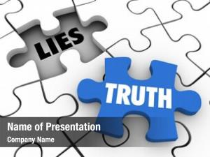 Puzzle truth word piece fill