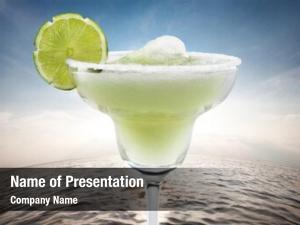 Water margaritas lime