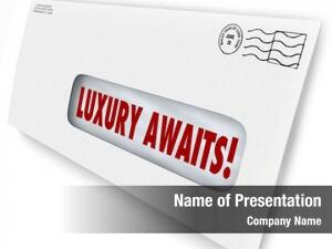 Words luxury awaits envelope special