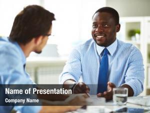 Businessman smiling african american shirt necktie