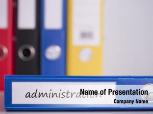 Blue word administration business binder