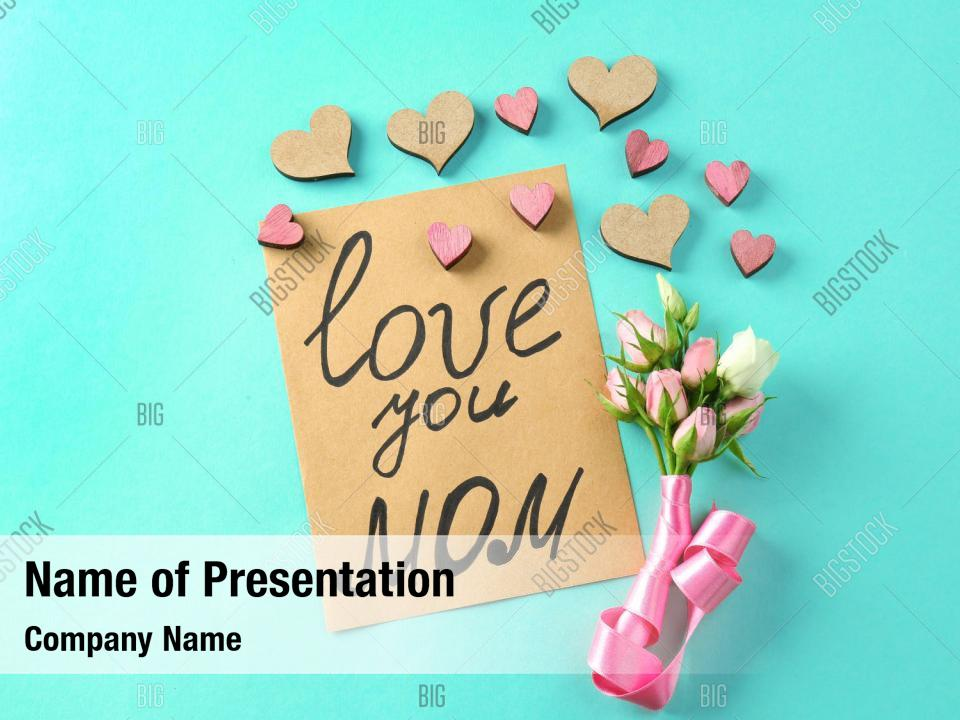 Bouquet celebration mothers day PowerPoint Template