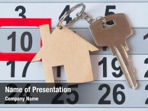 House key on a calendar
