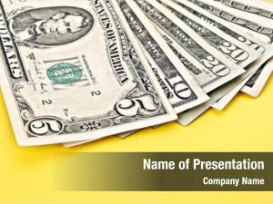 Banknotes few dollar yellow