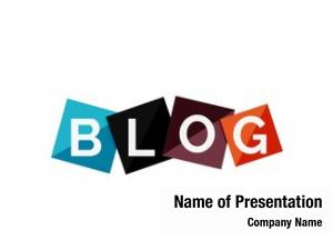 Concept word blog color geometric