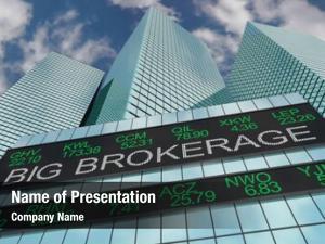 Trader big brokerage financial firm