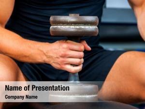 Workout man gym fitness equipment