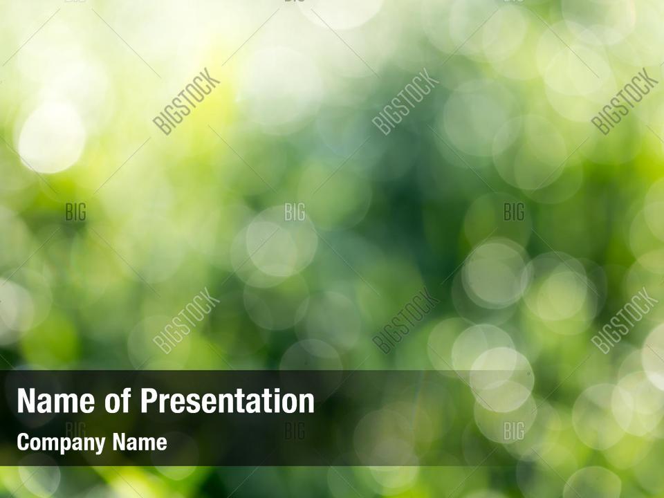 Bokeh of green nature PowerPoint Template - Bokeh of green nature
