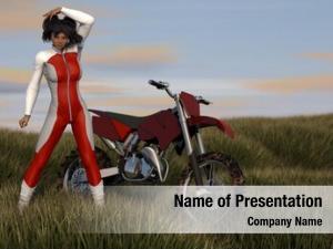 Asian motocross enduro girl