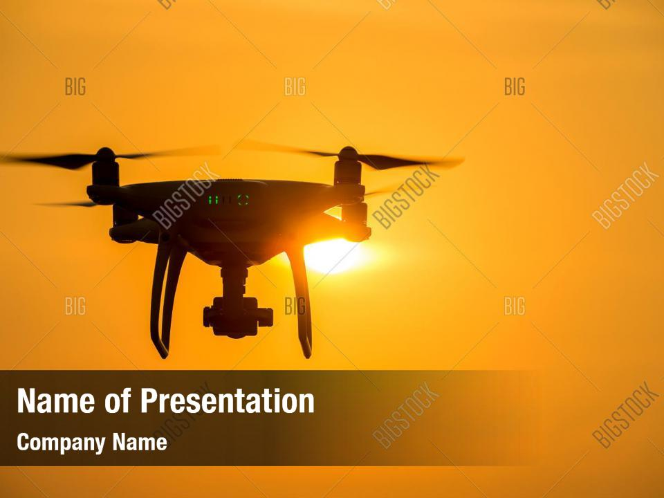 Silhouette drone powerpoint template PowerPoint Template