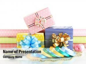 Wrapping materials accessories gifts holiday