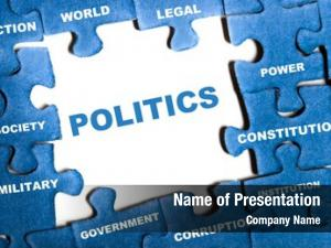Puzzle politics blue pieces assembled