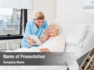 Tablet nurse nurse bedside senior