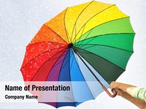 Hands rainbow umbrella
